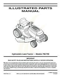 mtd 760 779 hydrostatic lawn tractor mower parts list