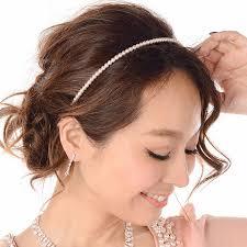 ゲスト用結婚式のお呼ばれヘアはカチューシャをプラスmarble