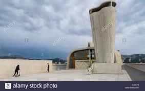 Cité Radieuse De Le Corbusier Sur Le Toit Marseille Banque Dimages