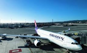 a hawaiian airlines a330 loading up for the 5 hour flight to honolulu photo chris