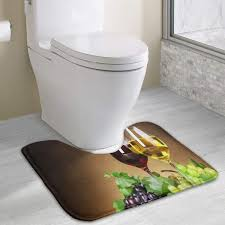 com beauregar g wine contour bath rugs u shaped bath mats soft polyester bathroom carpet nonslip toilet floor matmachine wash 19 2 x15 7
