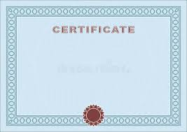Blue Blank Certificate Stock Vector. Illustration Of Framework ...