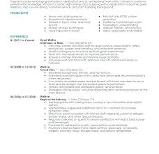 Server Resume Samples How To Write Double Major On Resume Unique