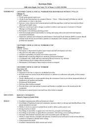 Licensed Clinical Social Worker Resume Samples Velvet Jobs
