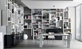 Bookcase Design Ideas Workspace With Hanging Bookcases Design