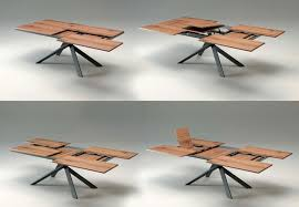 expandable furniture. 4×4 Extendable Dining Table By Ozzio Is A Space-Saving Furniture Expandable