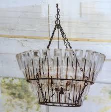 pottery barn elena wood bead chandelier new in box