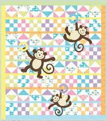 Quilt Inspiration: Free pattern day: Baby quilts ! (part 1 ... & free pattern = Grow With Me, x by Deb Strain, Katie Strain, and Arrin  Turnmire for Moda Fabrics (includes monkey templates for applique). Featurd  at Quilt ... Adamdwight.com