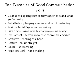 verbal and non verbal communication sills