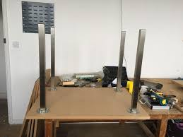 picture of building the vacuum table
