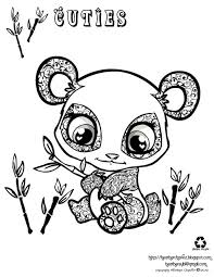 Coloring Exquisite Panda Bear Stuffed Animal Coloring Pages Free