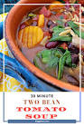 30 minute bean soup for 2