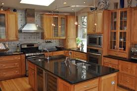 dark granite countertops on maple cabinets kitchen backsplash ideas for black granite countertopaple cabinets