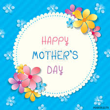 mother day card design happy mothers day card design with floral on circle border frame on