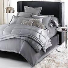 100% Silk Quilts | eBay & $750 DONNA KARAN HOME 100% SILK Charmeuse QUILT Silver KING 110