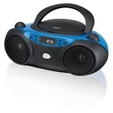 GPX CD Boombox with AM/FM Radio and LED Display - Blue Players \u0026 Boom Boxes : Target