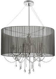 17410 elegant crystal drop black metal chandelier large pendant ceiling light
