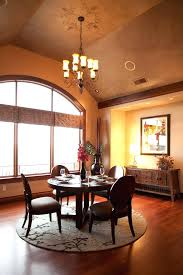 round rug dining room 4 round rug with gold shade dining room contemporary and wood buffet