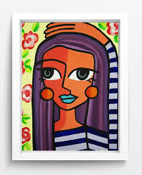 2019 pablo picasso abstract art long hair girl oil painting reion high quality giclee print on canvas modern home art decor from xmqh2017