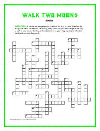 walk two moons simile crossword clues are similes from the book unique