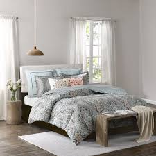 echo design sterling duvet cover king size teal green damask duvet cover set 3 piece cotton light weight bed comforter covers souq uae