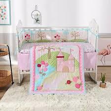 cotton 3 piece baby crib bedding sets