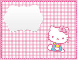 free photo invitation templates hello kitty free printable invitation templates