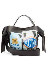 acne studios musubi mini vase leather bag womens black multi wedding boutique