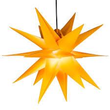 Weihnachtsstern 1 Led Warm Weiß Farbe Gelb 3d Lichter Stern