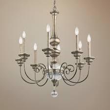 kichler rosalie 44 wide sterling gold 44 light chandelier franklin iron works amber