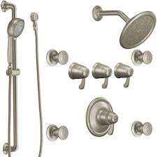 m275bn m3371 m3600 exact temp two wall power custom shower system brushed nickel at fergusonshowrooms com