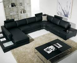Popular Picture Black Leather Living Room Furniture Sets Living