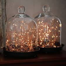 image of led string lights copper