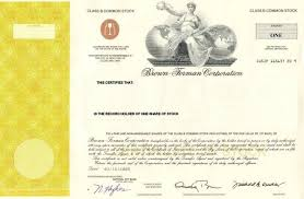 Selling A Share Certificate Buy One Share Of Brown Forman Inc Stock For A Unique Gift