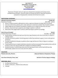 Respiratory Therapist Resume Amazing Respiratory Therapist Resume Templates Respiratory Therapist Resume