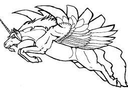 Unicorno Con Le Ali Immagine Da Colorare Gratuitamente Disegni Da