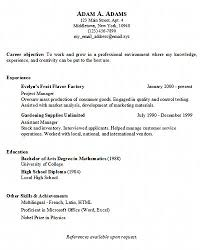Simple Resumes Examples Cool Simple Job Resume Examples musiccityspiritsandcocktail