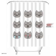 watercolor animals water proof mildew resistant shower curtain