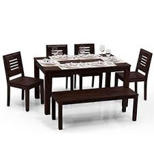 dining table online purchase chennai. arabia - capra 6 seater dining table set (with bench) online purchase chennai u