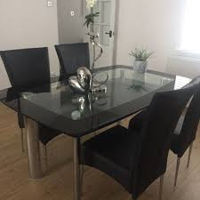 round glass dining table set top modern room sets rectangular and chairs extending small pedestal medium size of kitchen square base for extendable