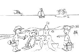 I Castelli Di Sabbia Al Mare Disegni Da Colorare Per Bambini