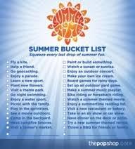 <b>Summer bucket</b> list