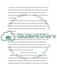 Organizational Structure And Design Essay Example Topics