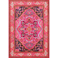 darius pink and gold wool area rug pink and gold rug for nursery