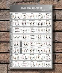 Dumbbell Exercises Chart Printable Details About C 51 Bodybuilding Fitness Dumbbell Workout Vol 1 Gym Chart Print Poster 21 24x36