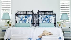 coastal living bedroom furniture. Use A Symmetrical Furniture Arrangement To Accommodate Both Singles And Couples In This Preppy Jamaican Guestroom Coastal Living Bedroom
