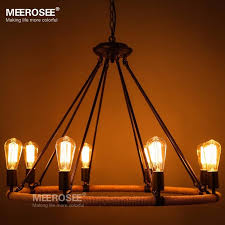 vintage edison bulb pendant light fitting american style rope drop lamp re antique edision bulb suspension light for living room pendant ceiling
