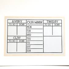 Personalized Magnetic 5 Section Chore Chart 20x13 To Do List Chore Board With 2 4 Names For Kids Or Adults Magnets Optional