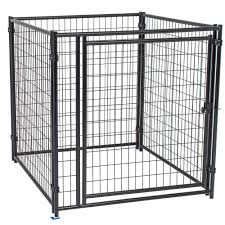 Welded wire dog fence Black Wire Modular Welded Wire Kennel The Home Depot Dog Kennels Dog Carriers Houses Kennels The Home Depot