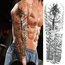 водонепроницаемые временные татуировки наклейки часы с глазом птица